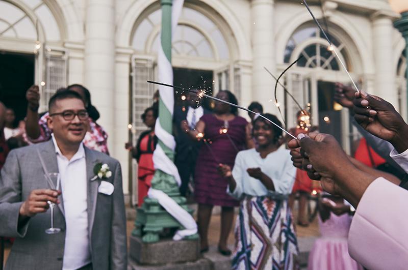 sparkler wedding ceremony