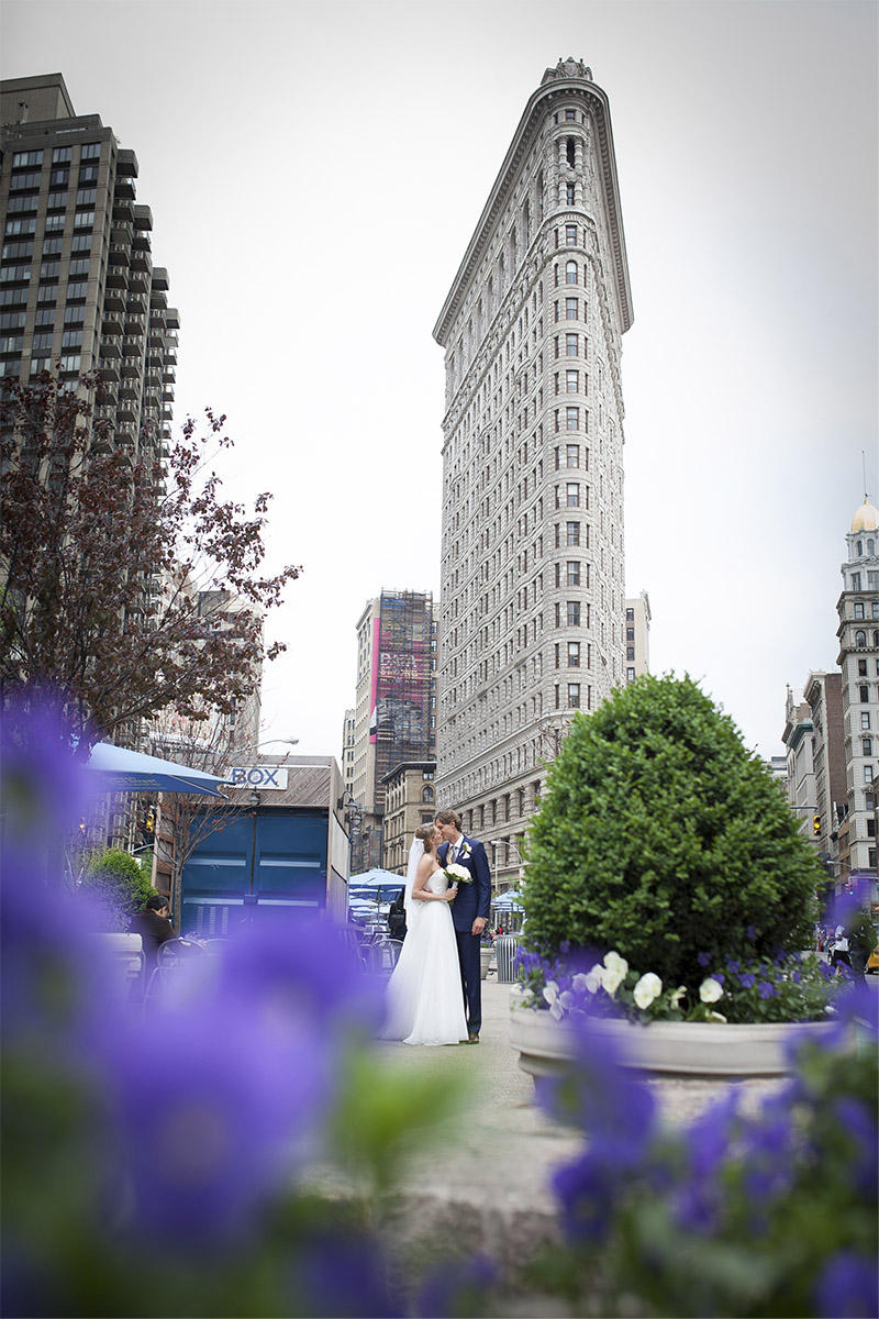 flatiron building wedding photo