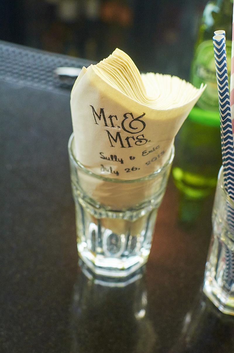 wedding custom napkins