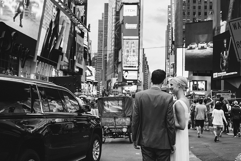 times square nyc wedding