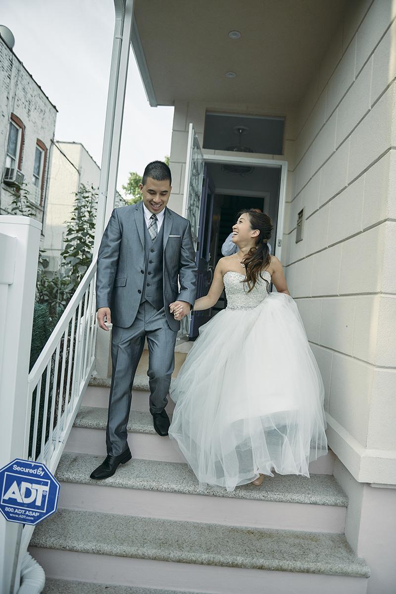 korean bride and groom