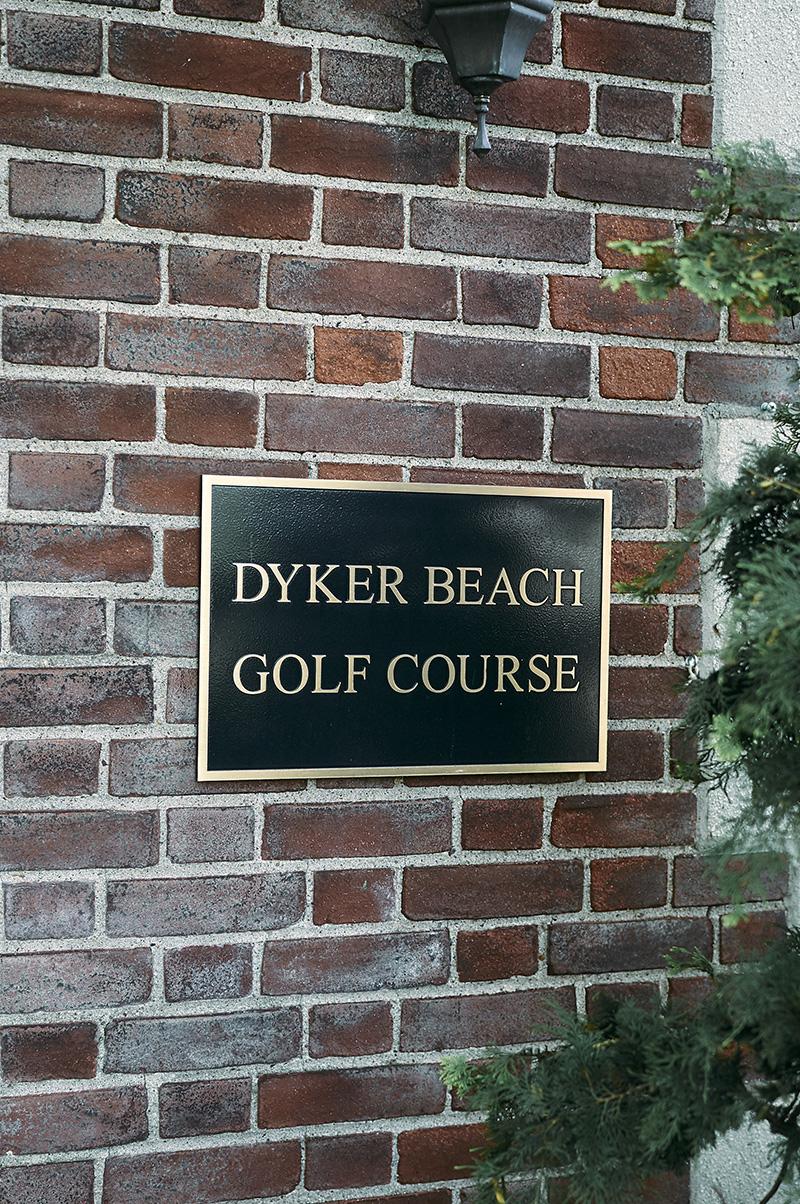 dyker beach golf course sign