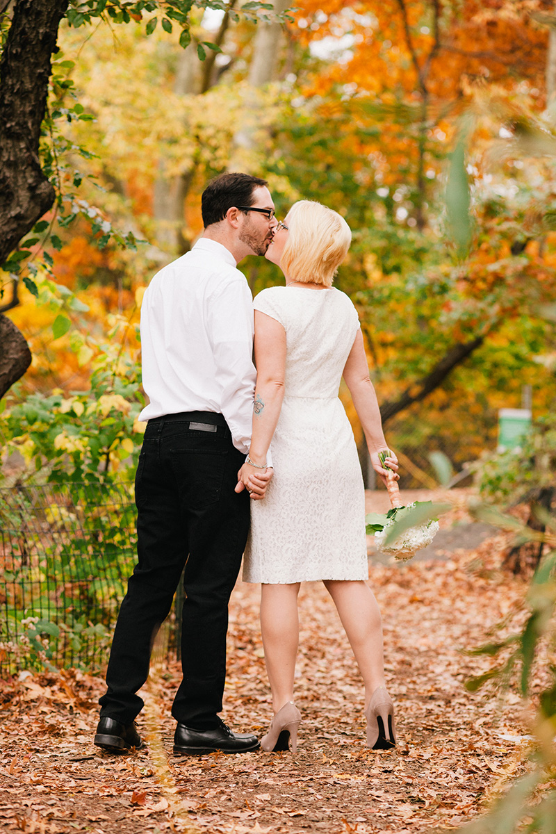 central park fall elopement