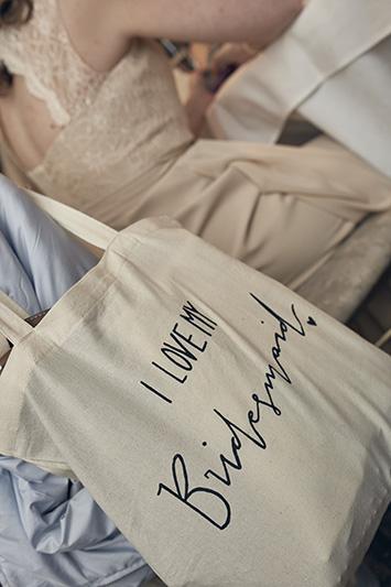 i love my bridesmaid tote bag