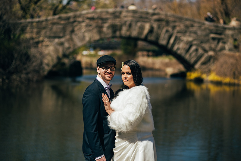 central park elopement portraits