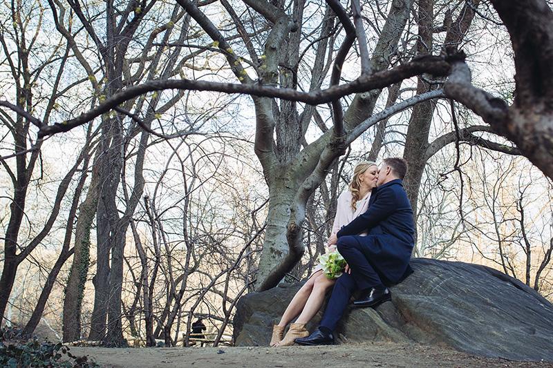central park elopement portraits