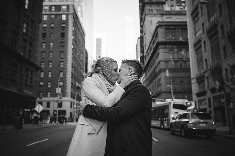 NYC streets wedding photography