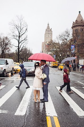 NYC streets wedding