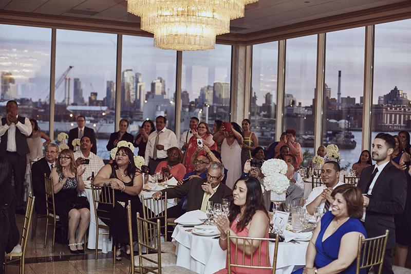 wedding reception audience