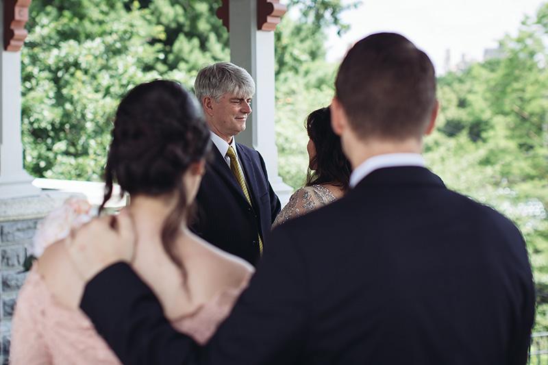 central park wedding ceremony