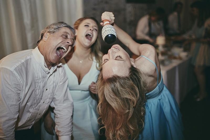 crazy wedding party
