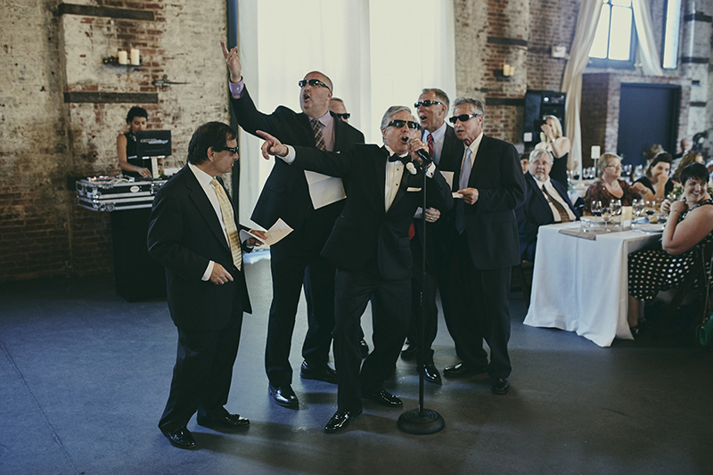 funny wedding performance