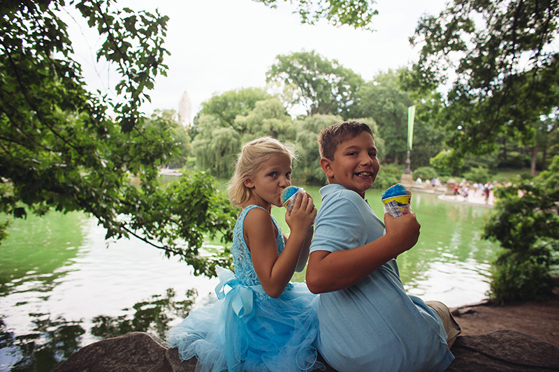 kids having fun on wedding