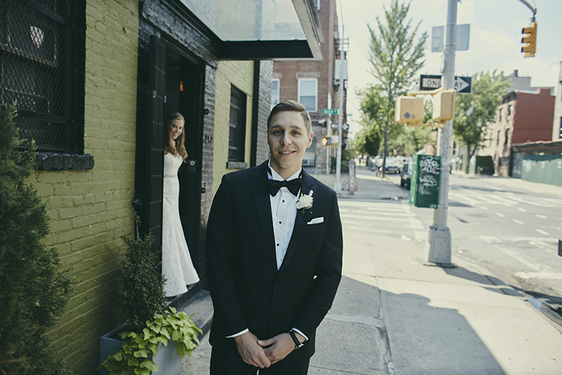 groom at first look