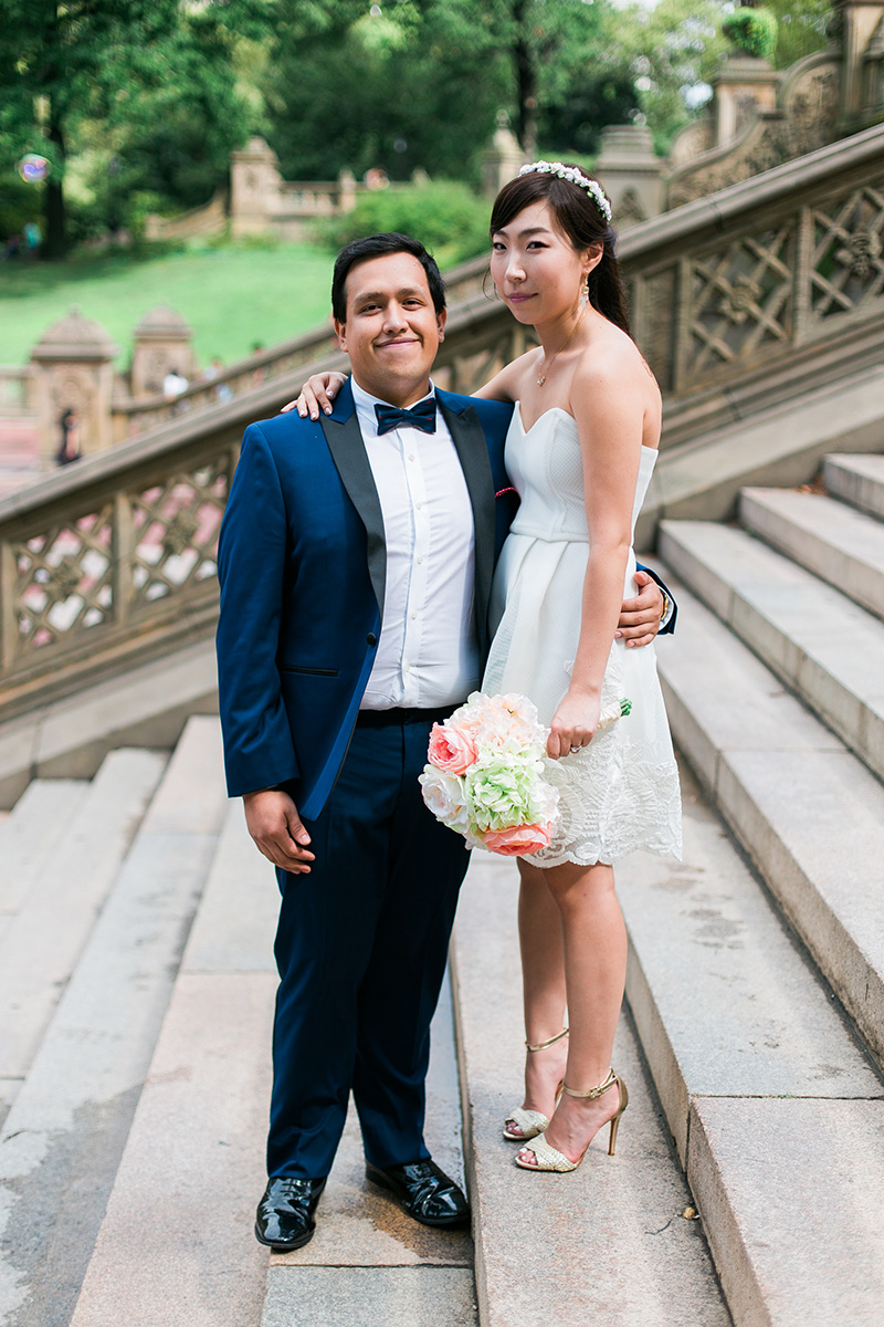 bethesda terrace wedding portraits