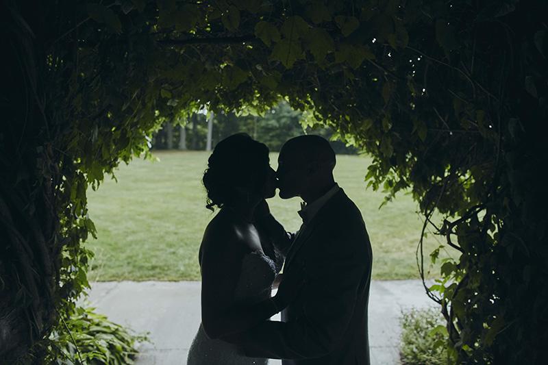 silhouette wedding portraits
