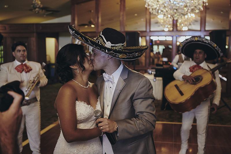 groom with sombrero