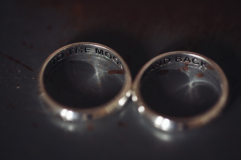 engravings on wedding rings to the moon and back