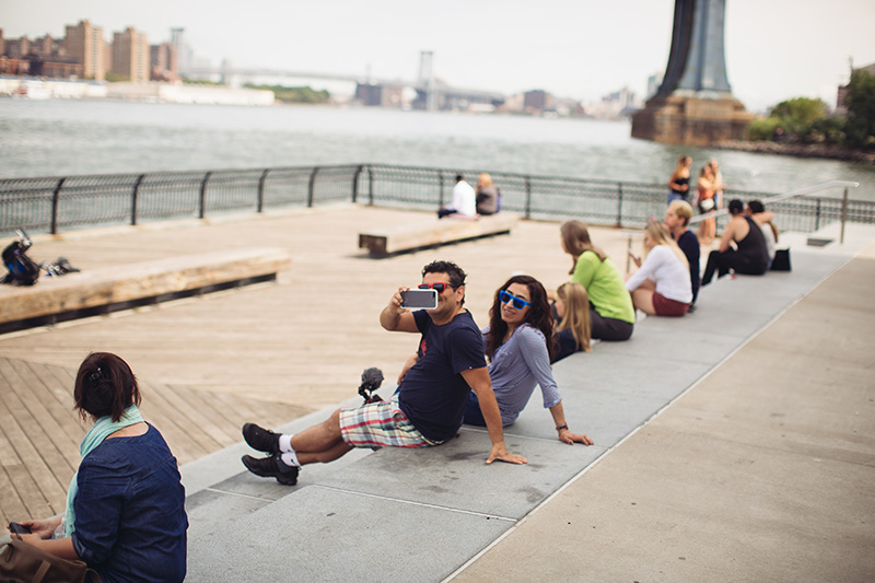 tourists in new york