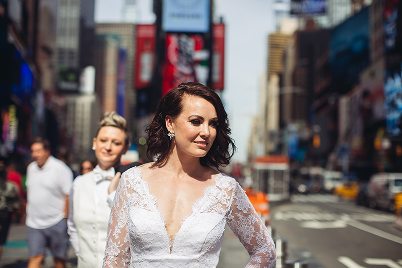 Bride on Times Square