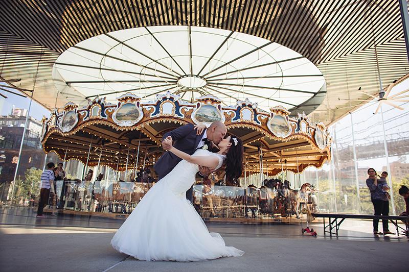 Wedding dip photos