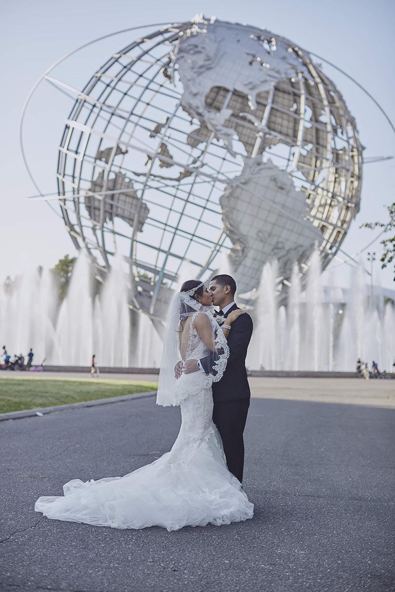 Unisphere wedding photos