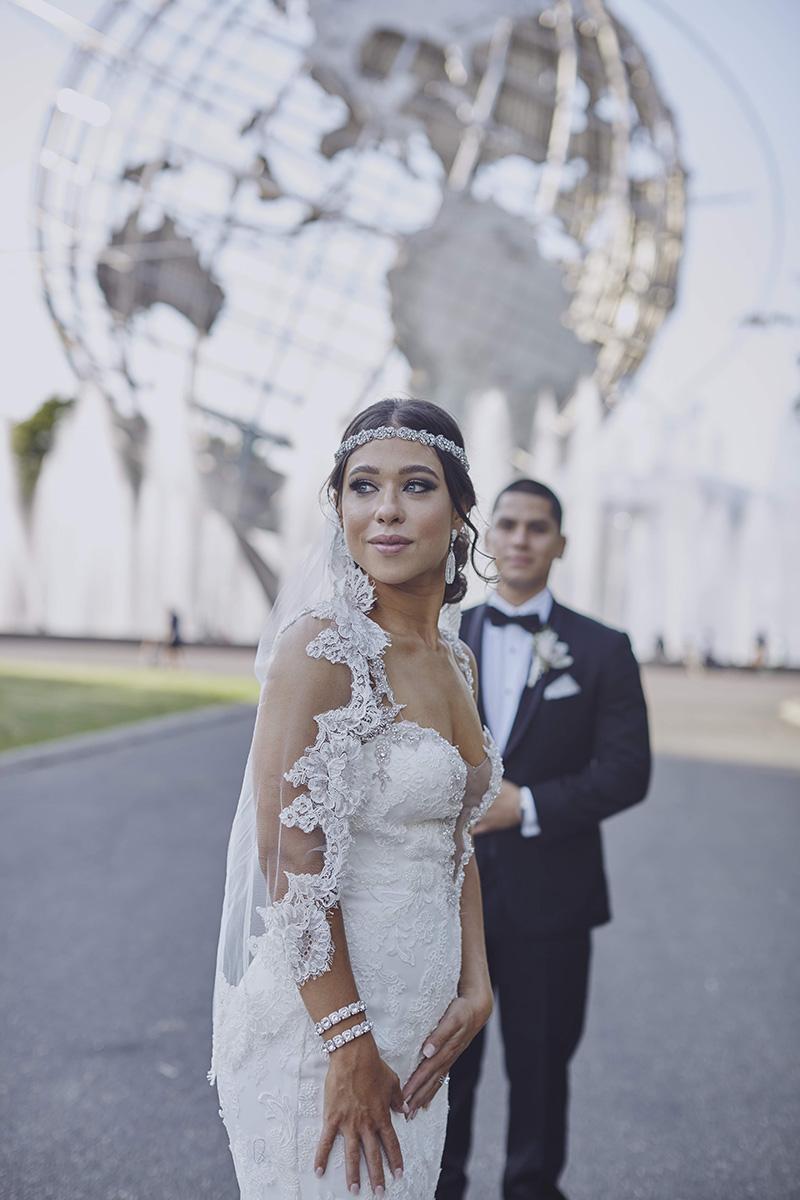 Bride at Queens Unisphere