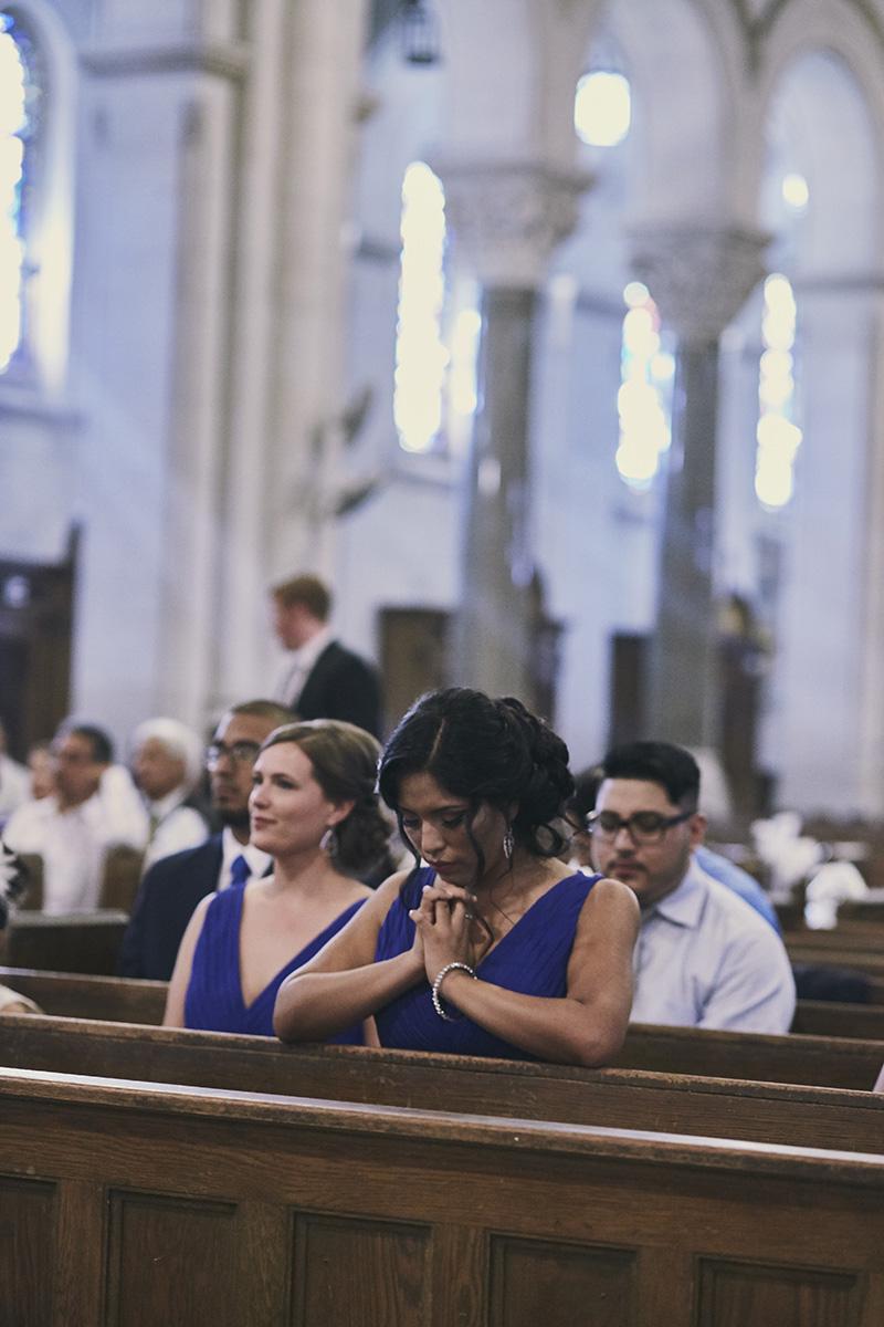 bridesmaid praying