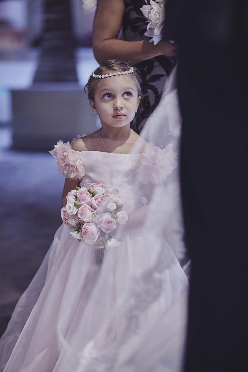 cute flower girl portrait