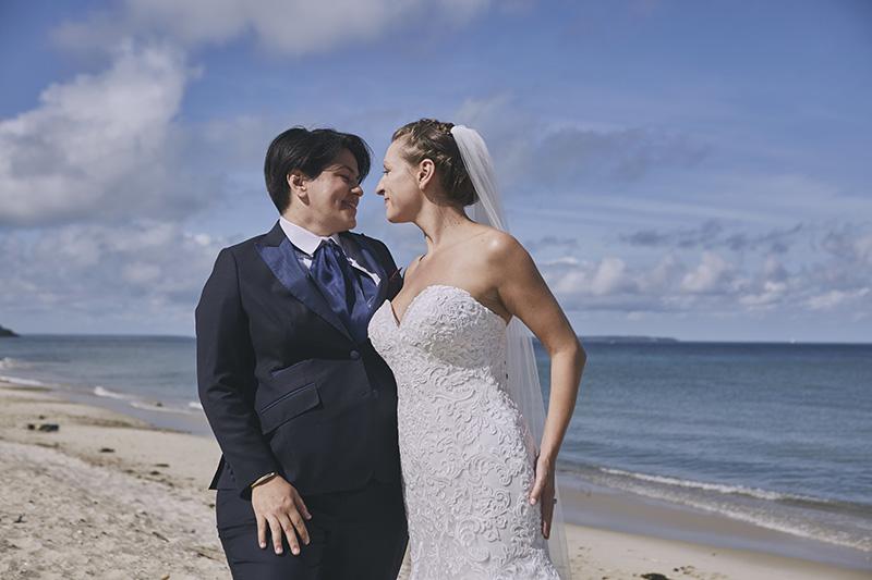 same sex beach wedding