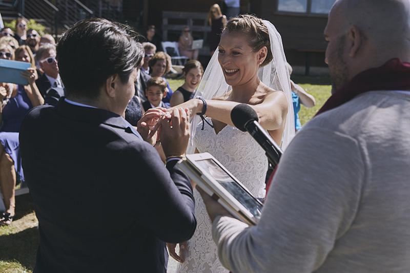 same sex wedding ring exchange