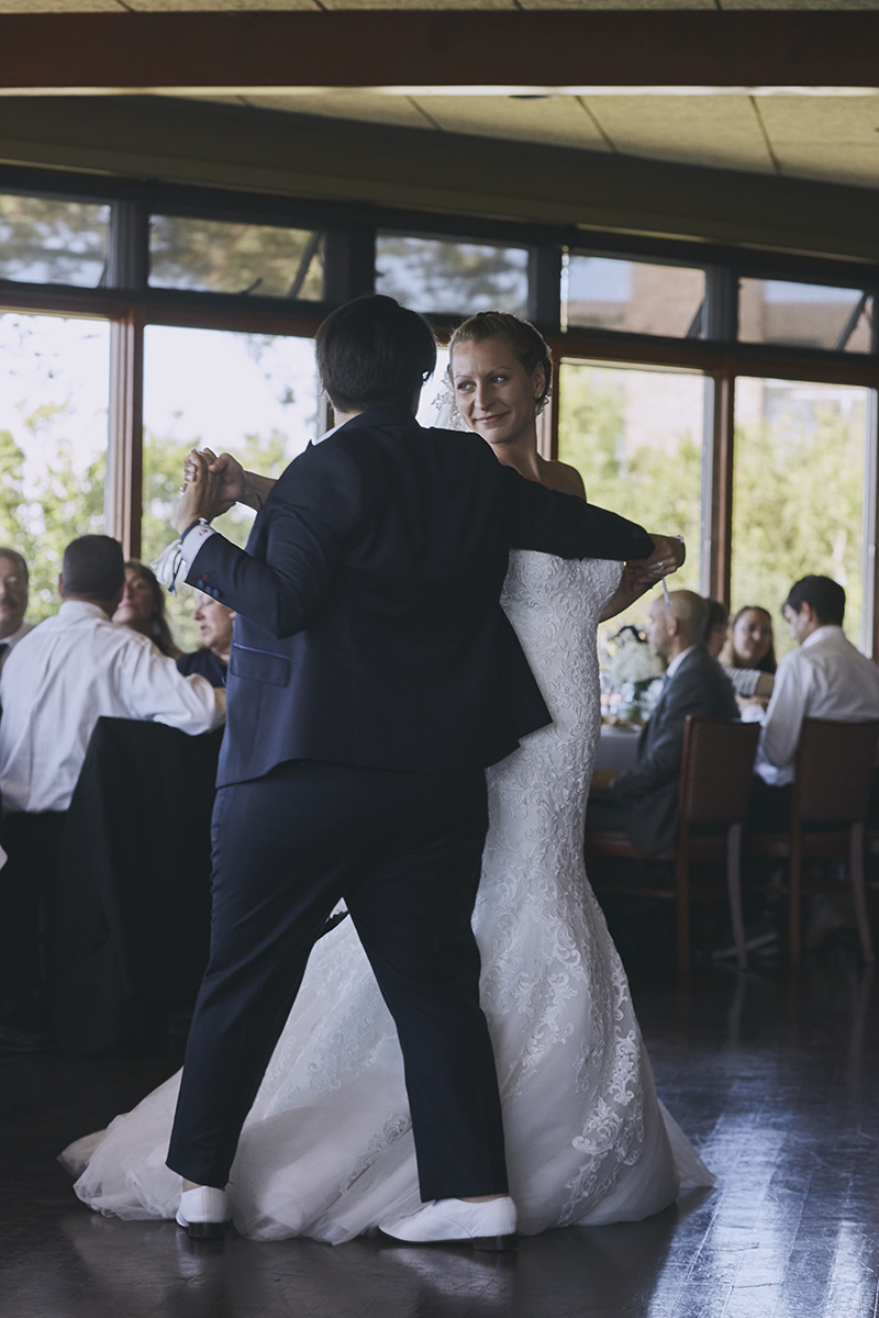same sex wedding reception