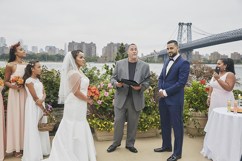 wedding ceremony on water