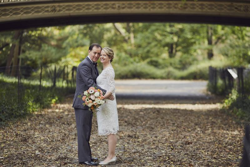 fall central park wedding