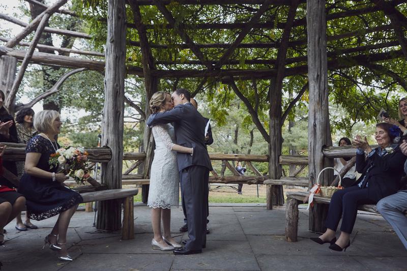 first wedding kiss