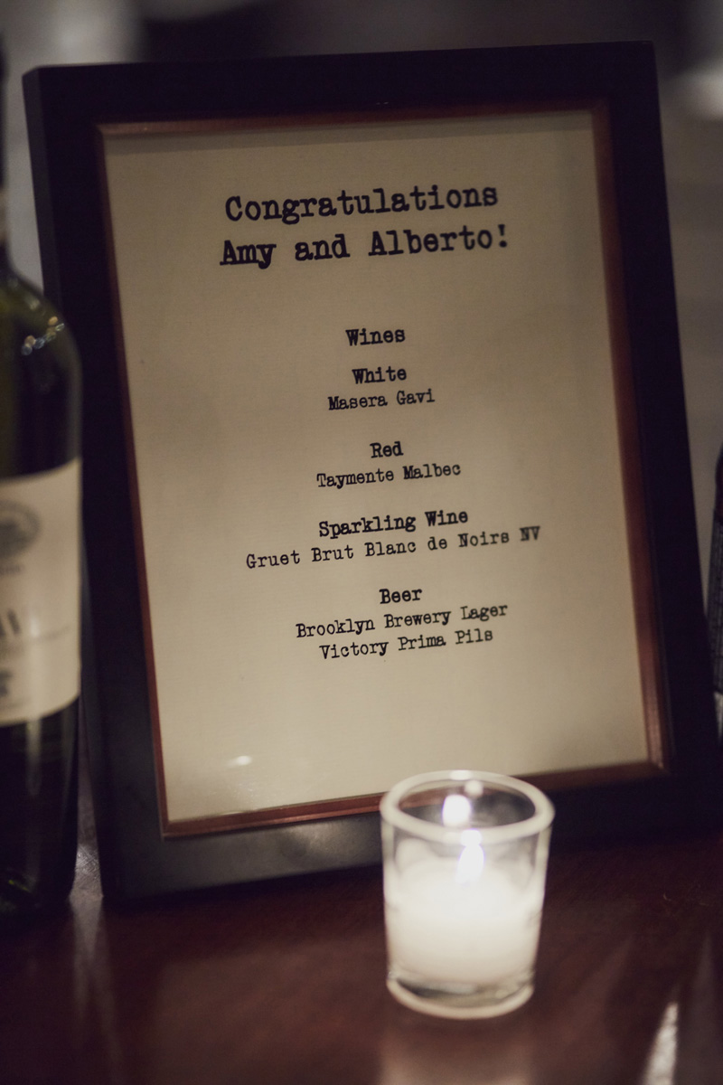 wedding signature cocktail list