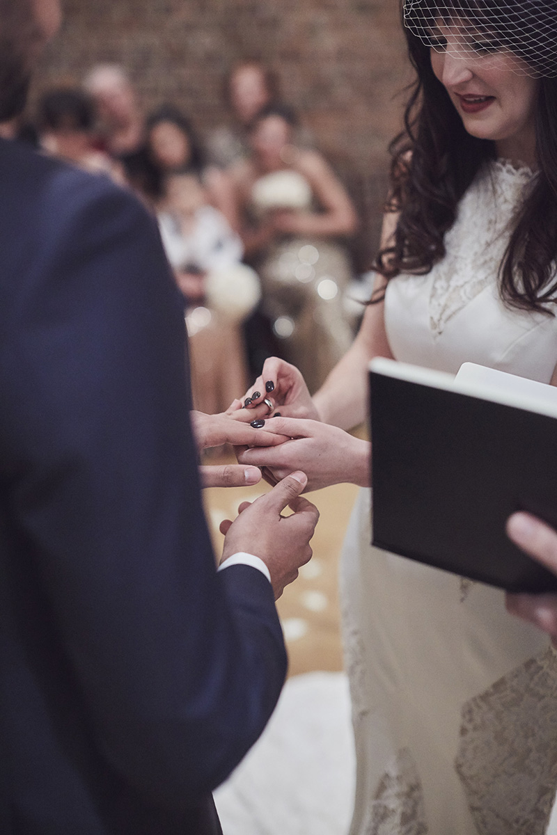 Wedding ring exchange