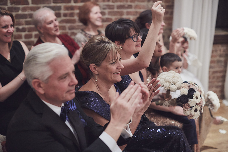 guests cheering