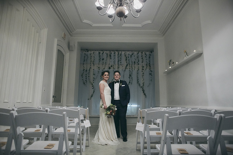 wedding ceremony room setup