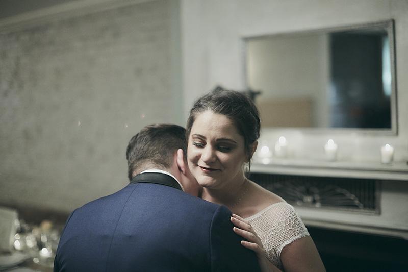 wedding couple hug