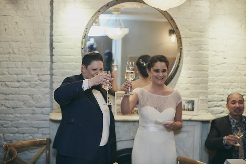 wedding couple toast