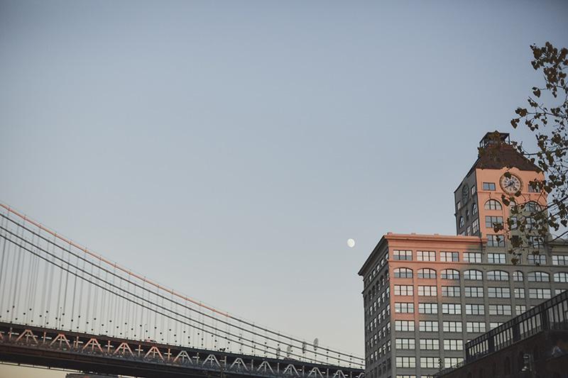 moon over Manhattan bridge