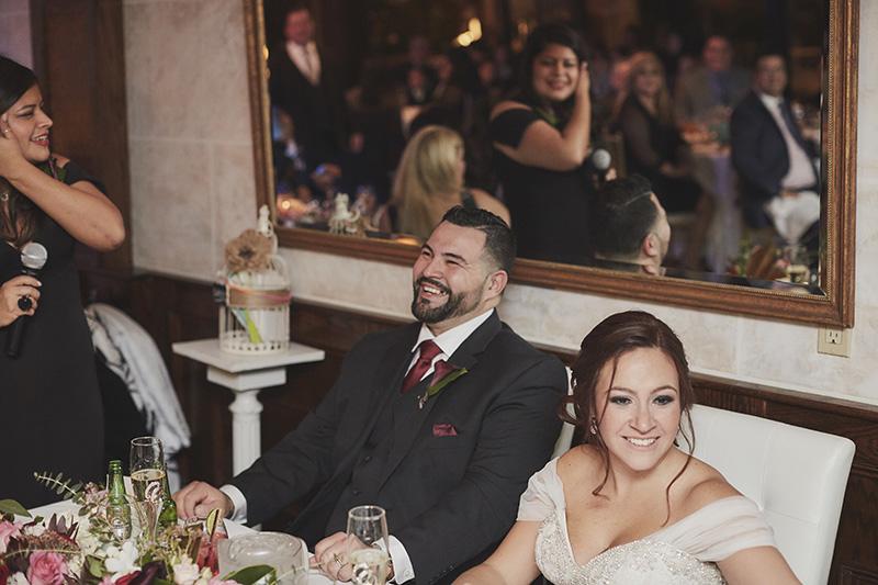 wedding toast reaction