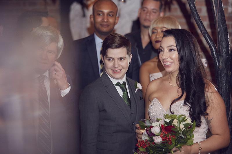 wedding couple reactions on speeches