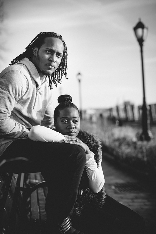 African american engagement photo session