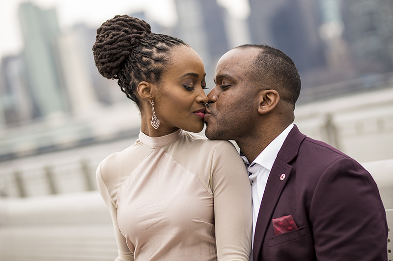 African American engagement photography