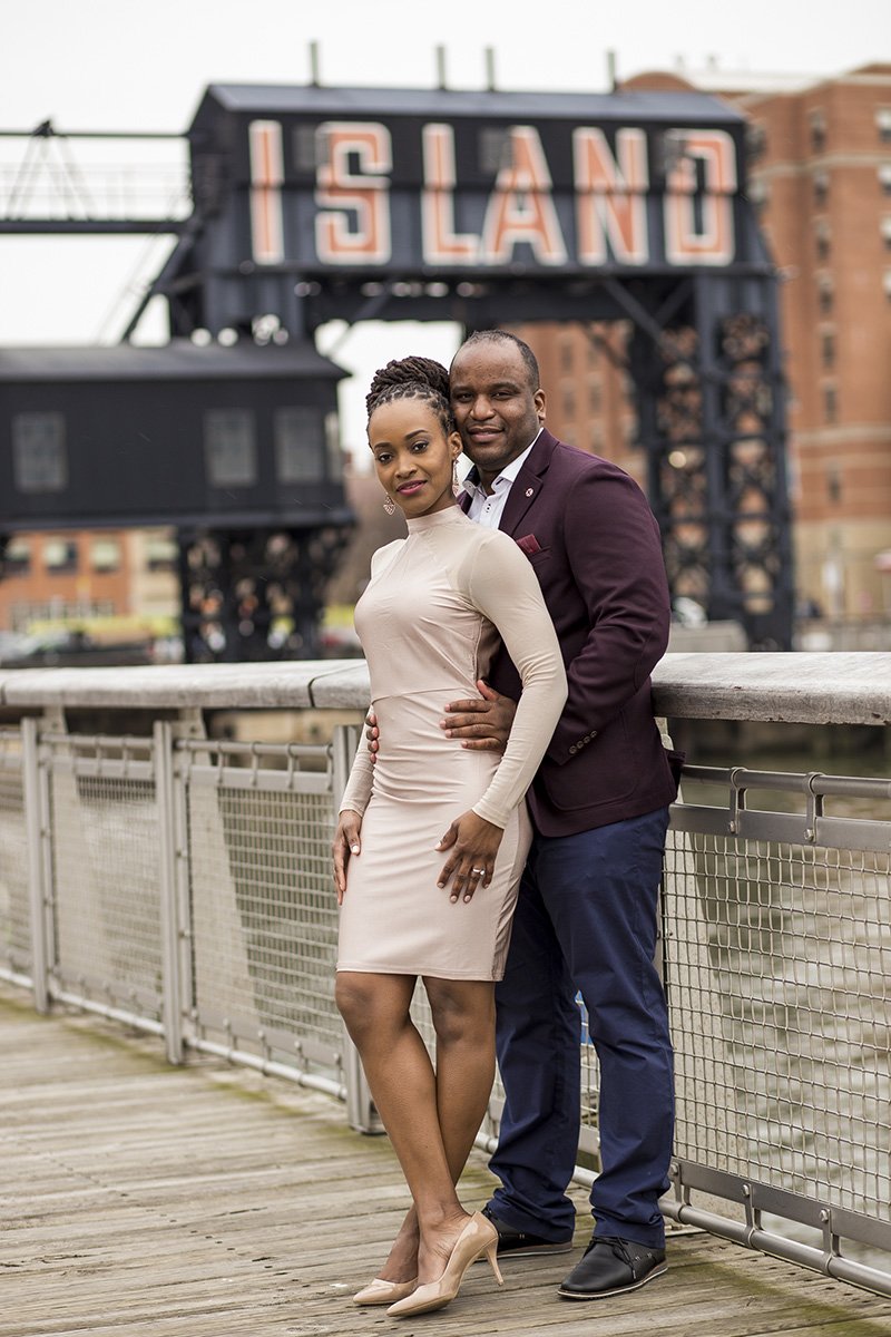 African American engagement photos