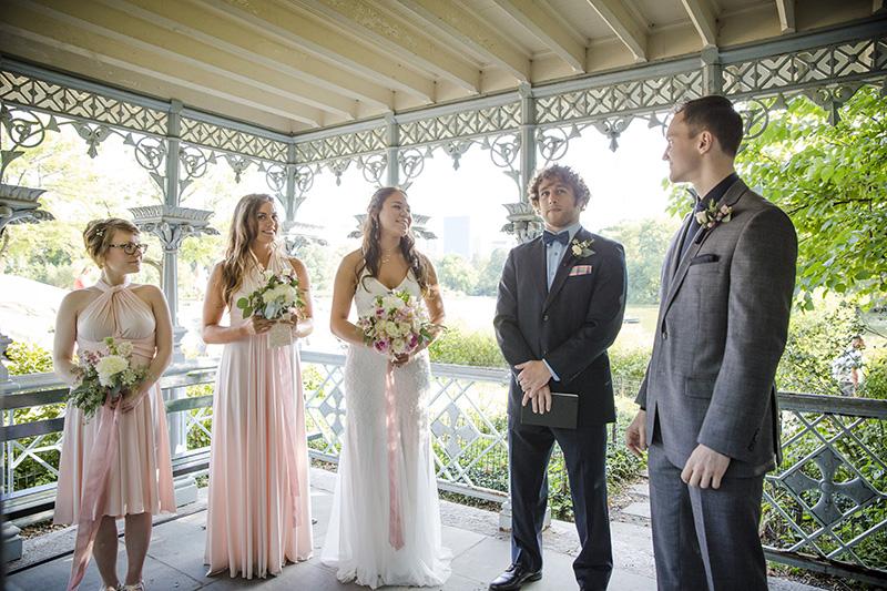 Ladies pavilion wedding ceremony