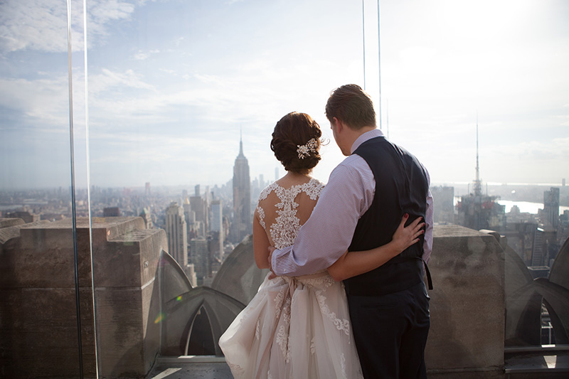 NYC Top of the Rock wedding