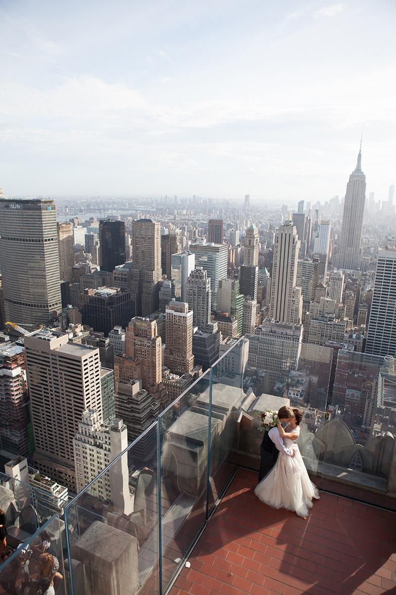 NYC skyline wedding